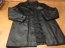 Jacqueline Ferrar Genuine Leather Jacket Full Zip Black Petite Small RN 93677