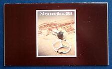 Prospekt brochure 1981 Mercedes 240D * 280E * 280CE * 380 SEL * 380 SL (USA)