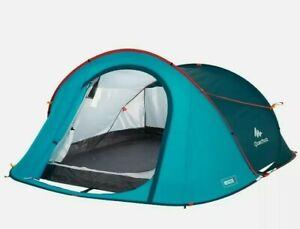 Decathlon Quechua 2 Second, 3 Person Waterproof Pop-Up Camping Tent 8lb. New