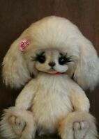 OOAK Artist teddy bear dog  7""