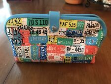 License Plate Auto Tag Travel Cosmetic Bag