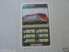 22 SUPER TRAIN F2 JETTRAIN TREIN KWARTET KAART, QUARTETT CARD
