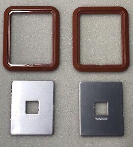 FORD XE Sierra Tan window switch plate & surround PAIR Fairmont ZK Fairlane S