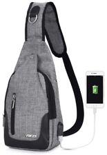Vbiger Crossbody Sling Backpack Chest Shoulder Bag Travelling With USB Charging