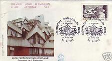 2365+ FDC ENVELOPPE 1er JOUR ARCHITECTURE CONTEMPORAINE