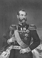 Russia Emperor ALEXANDER II Crimean War ~ Antique Old 1872 Art Print Engraving