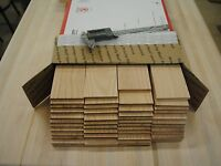 "36 Oak thin boards lumber wood crafts 1/4"" x 2-1/2"" x 12-1/2"""