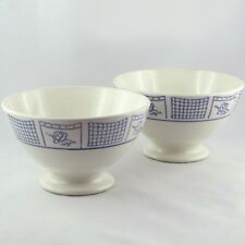 "Rare Duo X2 BOLS Faïence GIEN ""Beaulieu"" Vintage/digoin/antique french bowl..."