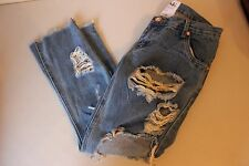 Women's One Teaspoon Lonely Boys Destroyed Jeans Wolf Blue Size 25 in - NWOT