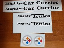 MIGHTY TONKA CAR CARRIER WITH STEEL DECALS