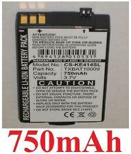 Batterie 750mAh type TXBAT0009 TXBAT10050 TXBAT10052 Pour Kyocera K484NC