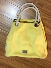 pre-owned Michael Michael Kors Canvas Marina Tote Shoulder bag Yellow Large