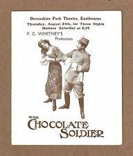 """Oscar Straus """"CHOCOLATE SOLDIER"""" F. C. Whitney 1911 Eastbourne, England Herald"""