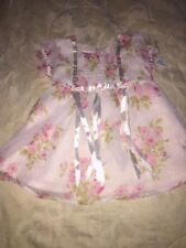 Girls 18 Mo. Little Lindsey Pink Rose Dress With Puffed Sleeves NWT      #R