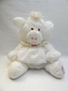 """15"""" Fisher Price Puffalump White Cow Bull Pink Original White Dress"""