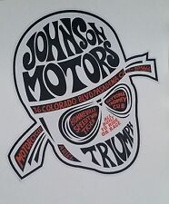 JOHNSON MOTORS MOTORCYCLE Vinyl Decal Sticker TRIUMPH HARLEY DAVIDSON ARIEL BSA