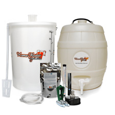 Home Brew Starter Kit Beer Cider Ale Making With Barrel / Keg CO2 Injection