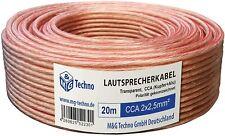 Câble haut-parleur 5m en cuivre 100/% CCA; Câble audio 2x2,5mm²