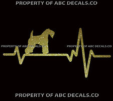 Heart Beat Line Dog Kerry Blue Terrier Love Pup Adoption Rescue Car Metal Decal