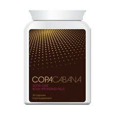 COPACABANA TANNING PILLS TABLETS INSTANT RESULTS PERMANENT DARKEST TAN