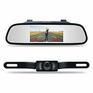 Camara De Espejo Para Carro Auto De Video Gravadora reversa y Frontal HD Noctur