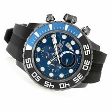 19248 Invicta 52mm Pro Diver Manta Ray Quartz Chronograph Silicone Strap Watch