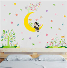 Cartoon Moon Girl Room Home Decor Removable Wall Sticker Decal Decoration