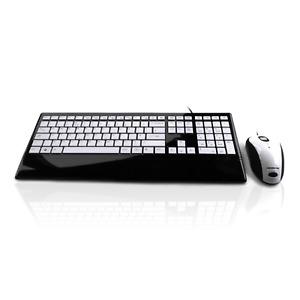 Accuratus Image Set | USB Full Size Keyboard and Mouse | White Gloss Finish Keys