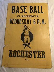 Rare Vintage Rochester Red Wings Baseball Broadside Poster