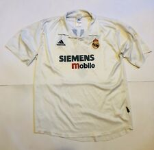 Adidas Real Madrid Maglia Calcio Vintage Taglia L/XL Raul (7) Liga Anni 90