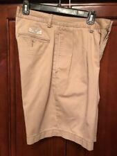 Ralph Lauren Polo Mens Khaki Shorts Sz 30 (darker Khaki) Pleated