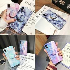 Silicone Marble Phone Case Cover For iPhone 6 6s 7 8 Plus X XS MAX Pop Up Holder