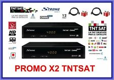 2 DECODEURS STRONG 7404 HD TNTSAT ASTRA + CARTE TNTSAT - RECEPTEUR TV TNT HD SAT