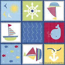 Fabric Springs Creative Ship Ahoy Nursery Patch 498951600715 new baby sailboat