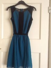 Teal Green Party Dress With Lace Detail (size 6)