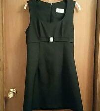 Buckle Detail Black Tunic Dress Jumper
