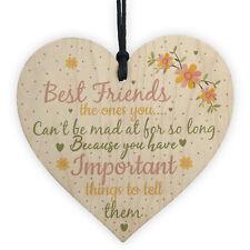 Best Friend Wood Sign Friendship Gift Birthday Christmas Thank You Keepsake