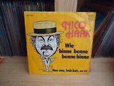 """7"""" Single Nico Haak - Wie Binne Benne Benne Binne / Nou Nou,  Bah Bah, Zo Zo"""