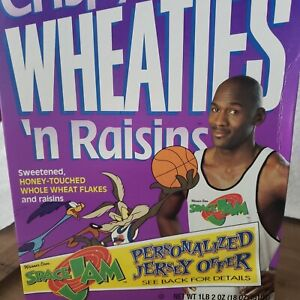"RARE 1996 Space Jam Michael Jordan Crispy Wheaties ''n Raisins ""UNOPENED"""