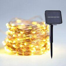 20-300 LEDs Copper Wire String Lights Solar Battery Fairy Lamp Garden Outdoor UK
