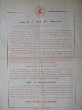 1920 circa-FATEVI SOCIO DELLA CROCE ROSSA!-VOLANTINO