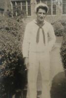 "United States Navy USN 1947 Vintage Black White Photo Forchy Idenified 1.5×2.5"""
