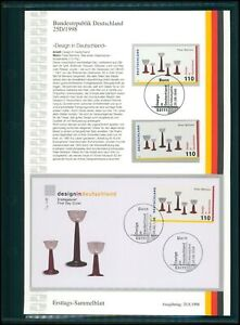 GERMANY BRD ETSB 1998/25D BAUHAUS DESIGN PETER BEHRENS GLAS GLASSES