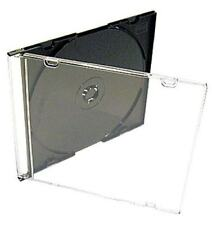 "(5 New) Standard Single 5.2mm ""Slim"" Jewel Cases CD/DVD Replacement Blank"