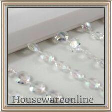 NEW Clear AB Rainbow Bead Curtain acrylie Beaded For Bedroom /Doorway/wedding