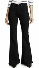 NWT Citizens Of Humanity Chloe Mid Rise Super Flare Leg Jeans 24 Sueded Black