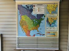 Mounted Nystrom United States History Series Pulldown Map 9 Maps In One