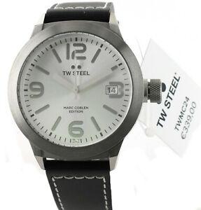 TW Steel Herren/Damen Uhr TWMC24 Marc Coblen Edition, Leder, 45 mm, UVP € 339,00