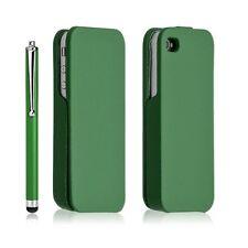 Housse coque étui pour iphone 4 / 4S vert + Stylet luxe + film protecteur