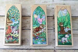 Precious Moments Window Chapel Stampendous Rubber Stamp Lot of 3